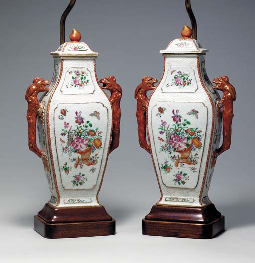 A PAIR OF CHINESE EXPORT SERPE