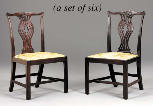 A SET OF GEORGE III MAHOGANY D