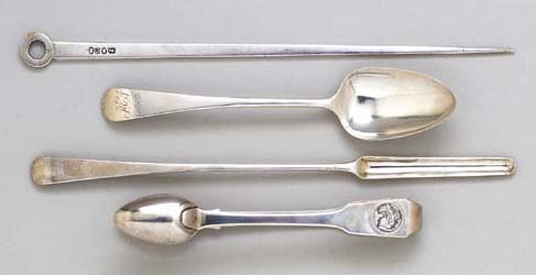 FOUR VARIOUS PIECES OF SILVER