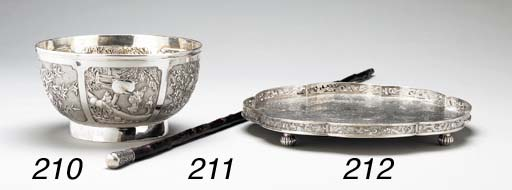 A SILVER PUNCHBOWL