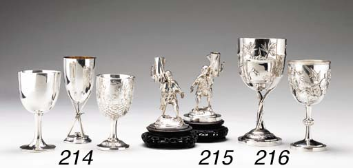 TWO SILVER GOBLETS