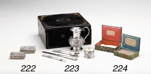 TWO SILVER SNUFFBOXES