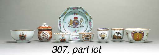 A GROUP OF 14 SMALL ARMORIAL P