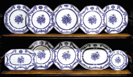 A BLUE AND WHITE ARMORIAL DINN