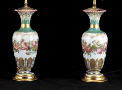 A PAIR OF FRENCH POLYCHROME-PA