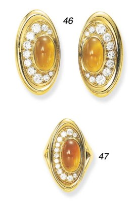 A CITRINE AND DIAMOND RING, BY