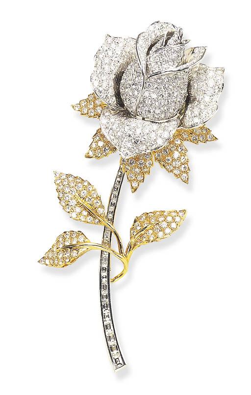 A DIAMOND AND GOLD ROSEBUD BRO