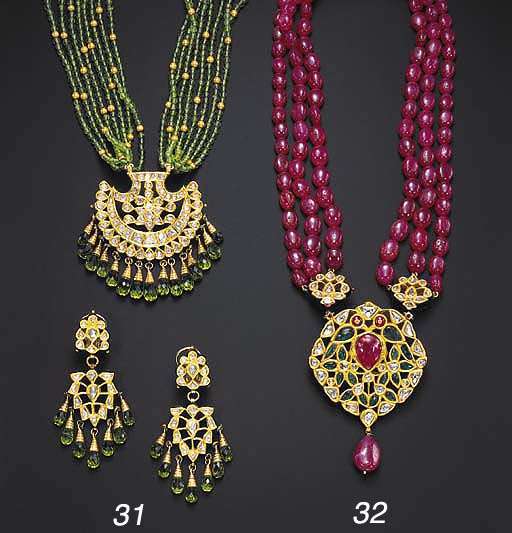 A SUITE OF INDIAN PERIDOT, DIA