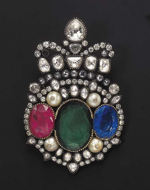 A DIAMOND, EMERALD, RUBY, SAPP