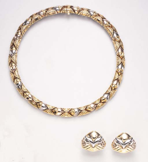 A SUITE OF DIAMOND AND GOLD