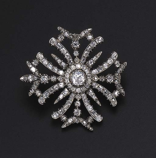 A GEORGIAN DIAMOND BROOCH
