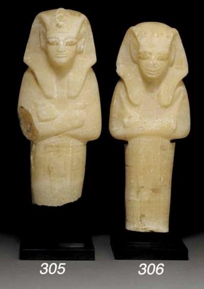 AN EGYPTIAN ALABASTER SHABTI F