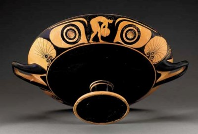 AN ATTIC RED-FIGURED EYE CUP