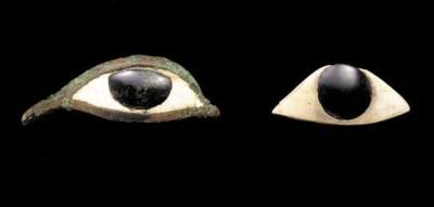 TWO EGYPTIAN EYE INLAYS