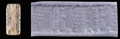 AN OLD BABYLONIAN ROCK CRYSTAL
