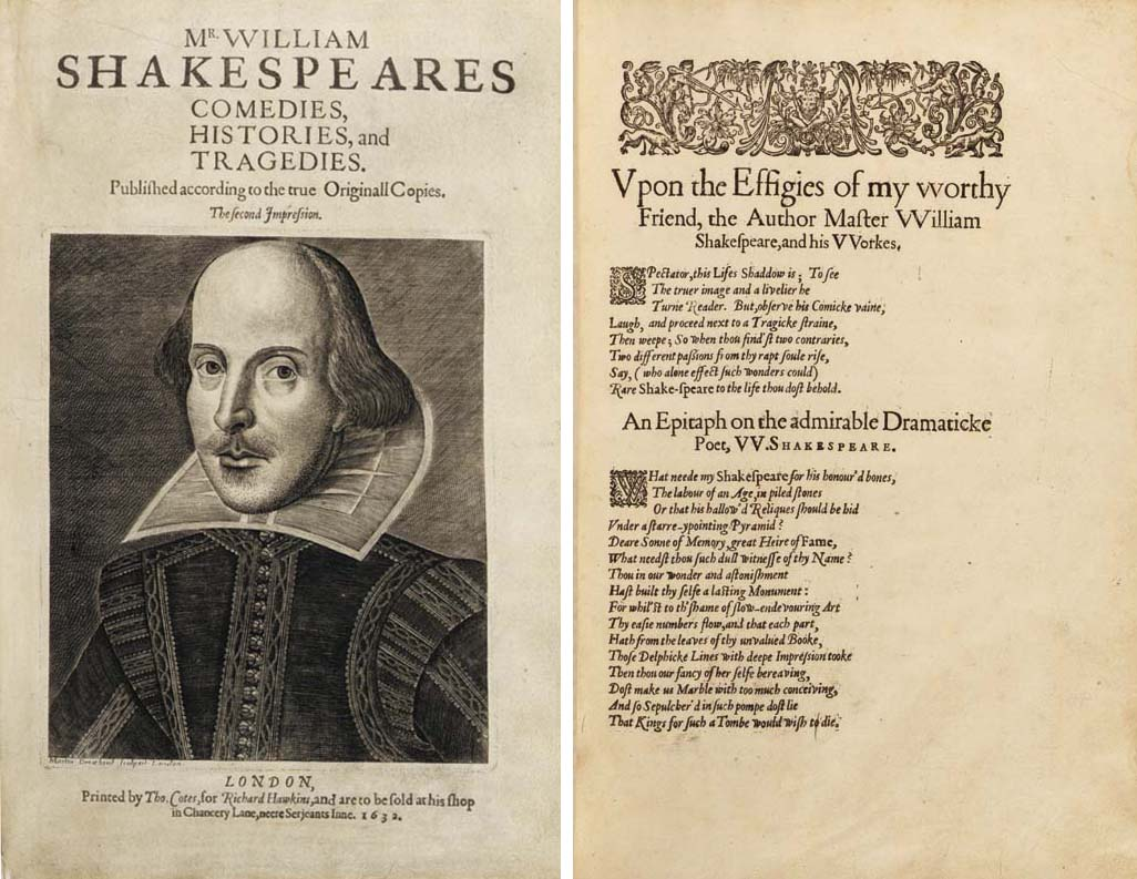 SHAKESPEARE, William (1564-1616). Comedies, Histories, and Tragedies. Published according to the true Originall Copies. The second Impression. Edited by John Heminge (d. 1630) and Henry Condell (d. 1627). London: Printed by Thomas Cotes, for John Smethwick, William Aspley, Richard Hawkins, Richard Meighen, and Robert Allot, 1632.