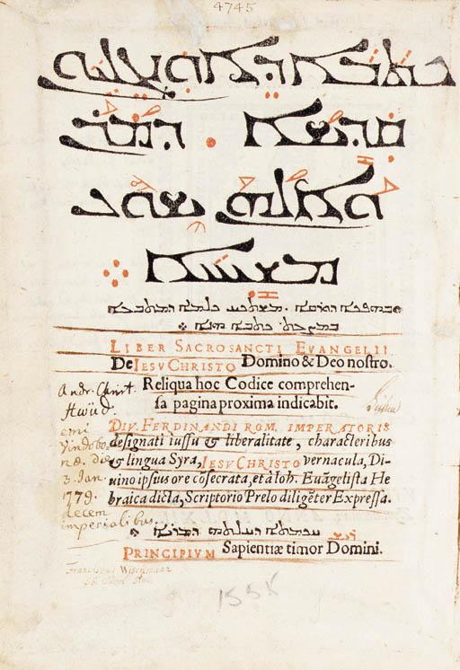 BIBLE, N.T., Syriac. Kethabha