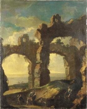 Attribuito a Domenico Roberti (1642 circa - 1707) e Dirk Hel