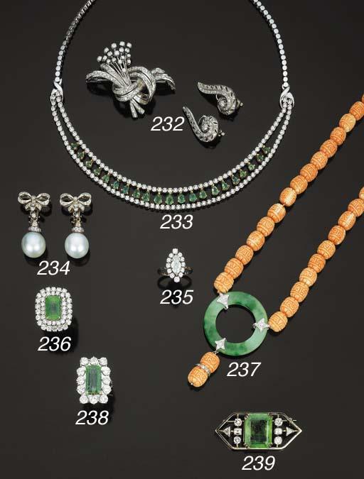 Collana semisnodata in smerald