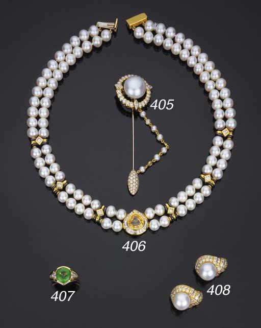 Collana in perle coltivate e z