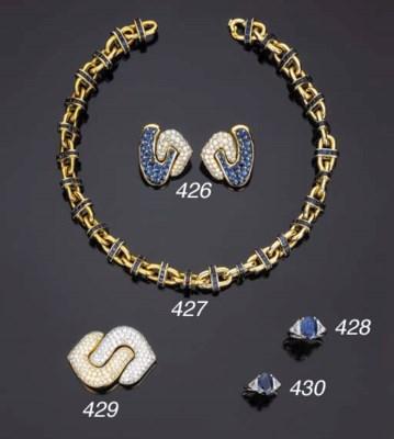 Collana in oro e zaffiri, firm