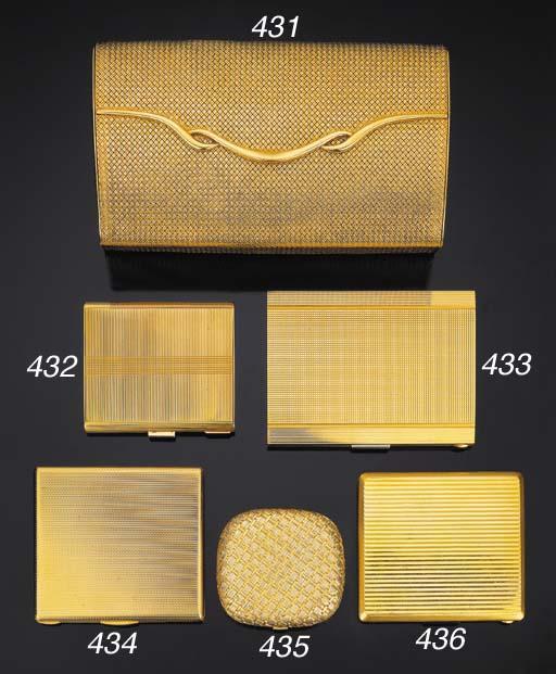 Portasigarette in oro giallo,