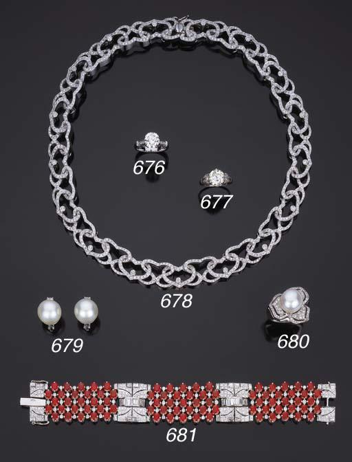 Bracciale in rubini e diamanti