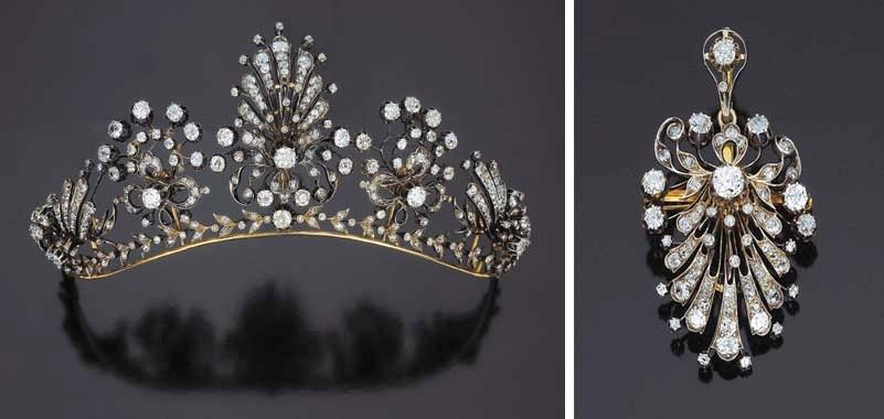 Antica tiara in brillanti