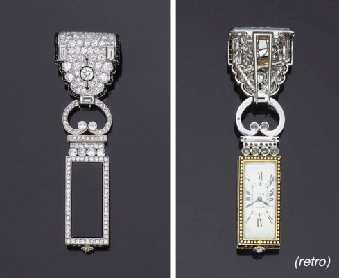 Elegante orologio art déco in