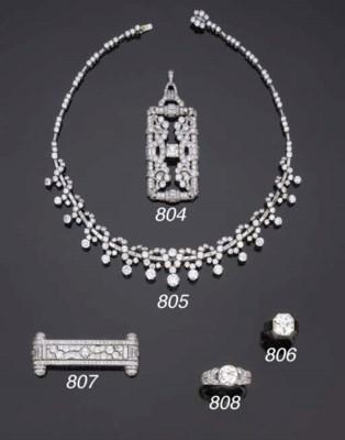 Pendente art déco in diamanti