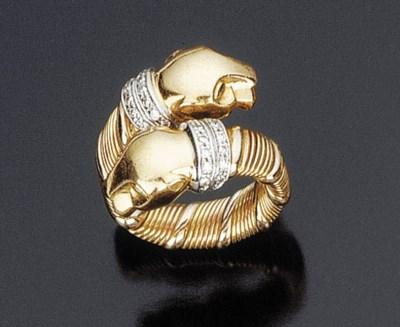 Anello in oro, firmato Cartier