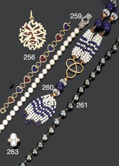 Collana in perle coltivate, za