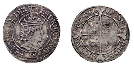 Henry VII, Groat, 3.08g., tent