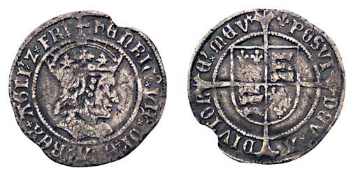 Henry VII, Groat, 2.45g., tent