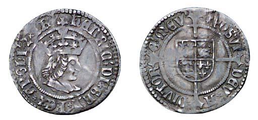 Henry VII, Halfgroat, 1.40g.,