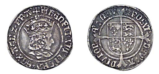 Henry VIII, Groat, 2.95g., fir