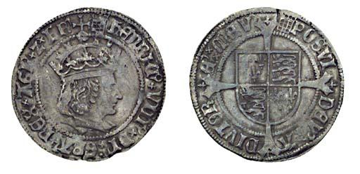 Henry VIII, Groat, 2.89g., fir