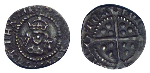 Henry VIII, Halfpenny, 0.42g.,