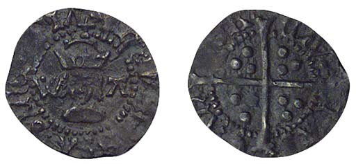 Henry VIII, Halfpenny, 0.24g.,