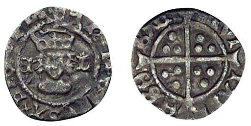 Henry VIII, Halfpenny, 0.30g.,