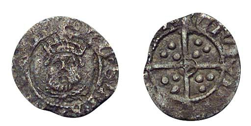Henry VIII, Halfpenny, third c