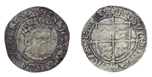 Henry VIII, Groat, 2.36g., pos