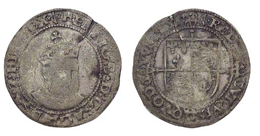 Henry VIII, Groat, 2.16g., pos