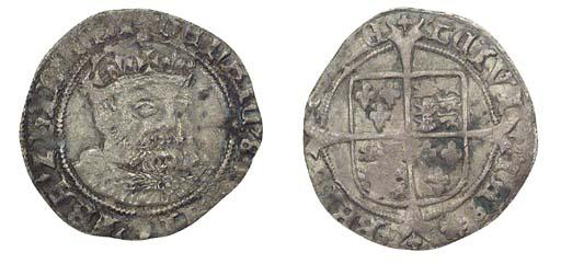 Henry VIII, Groat, 2.60g., pos