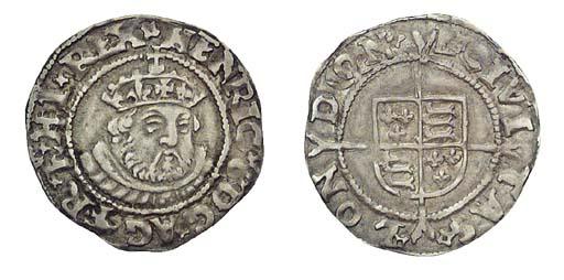 Henry VIII, Halfgroat, 1.07g.,