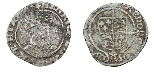 Henry VIII, Halfgroat, 0.87g.,