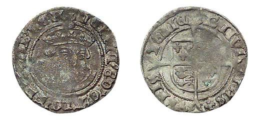 Henry VIII, Halfgroat, 1.11g.,