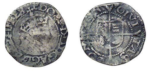 Edward VI, Halfgroat, 1.13g.,