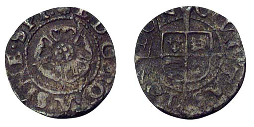 Edward VI, base Halfpenny, 0.4