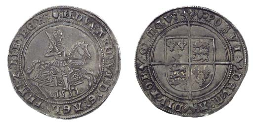 Edward VI, Halfcrown, 15.61g.,